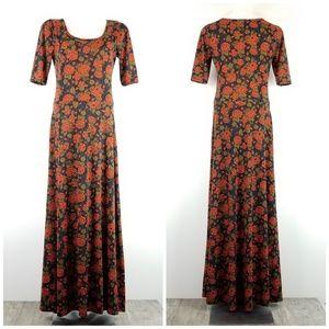 LuLaRoe Ana Dress Floral Print Multicolor Medium